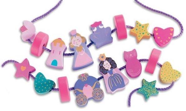Perles rose princesse pour petite fille