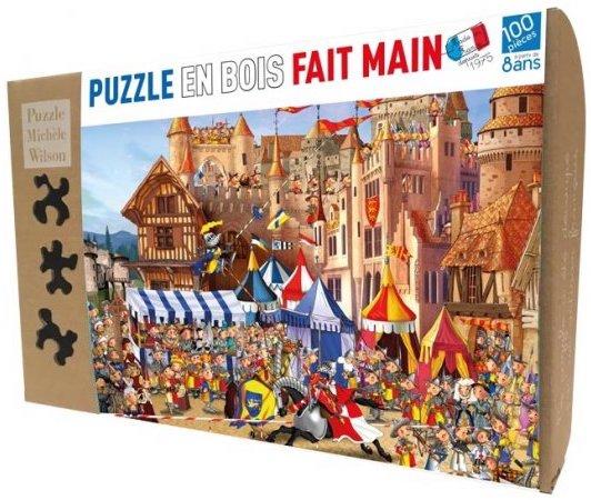 Puzzle en bois sur le thème chevaliers