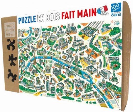 Puzzle 100 pièces Paris labyrinthes de PMW