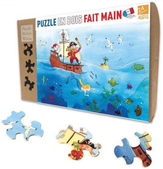 Puzzle en bois découpé à la main pour les enfants