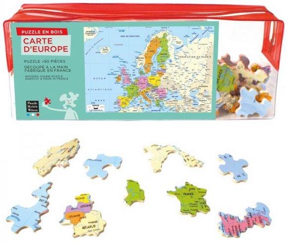 Puzzle en bois pour apprendre les pays d'europe