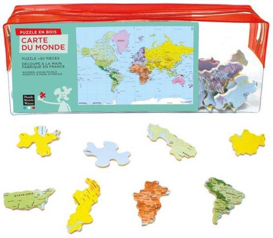 Puzzle éducatif pour apprendre les pays du monde