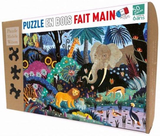 Puzzle 50 pièces nuit dans la jungle de PMW