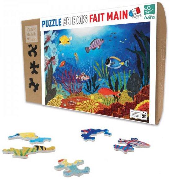 Puzzle écologique en bois pour les enfants de 6 ans