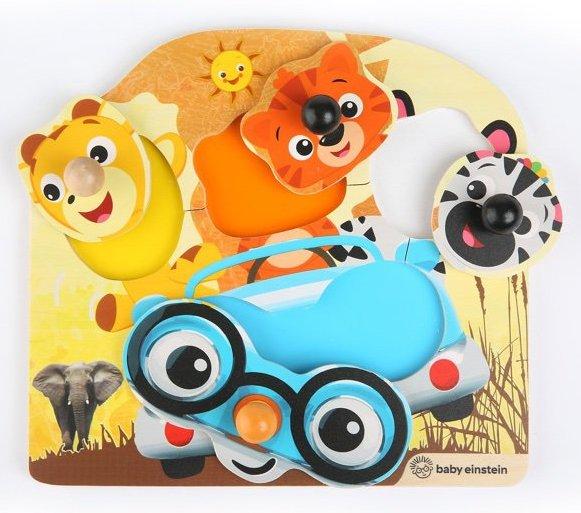 Puzzle en bois à boutons pour les enfants dès un an