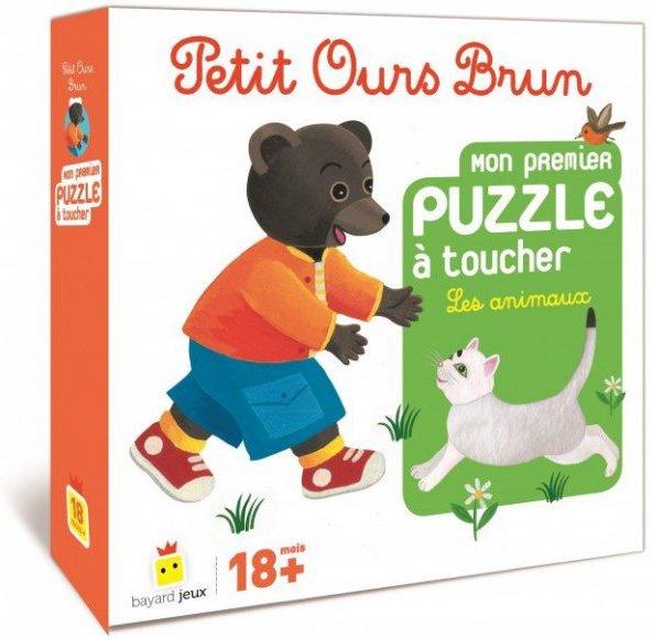 Puzzle à toucher Les animaux Petit Ours Brun