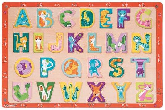 Puzzle d'encastrement en bois alphabet