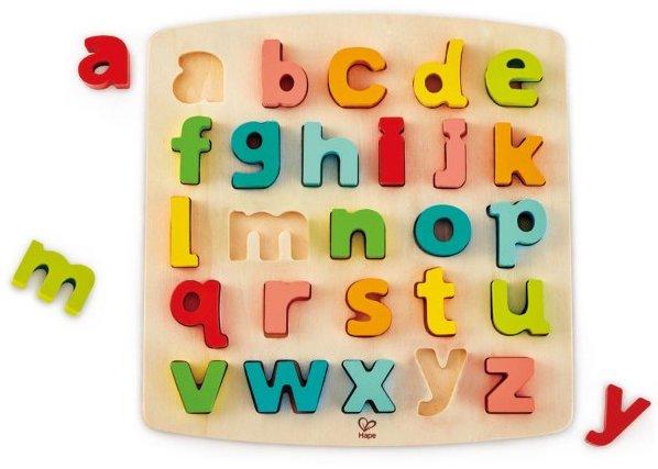 Puzzle en bois avec les lettres minuscules pour enfants