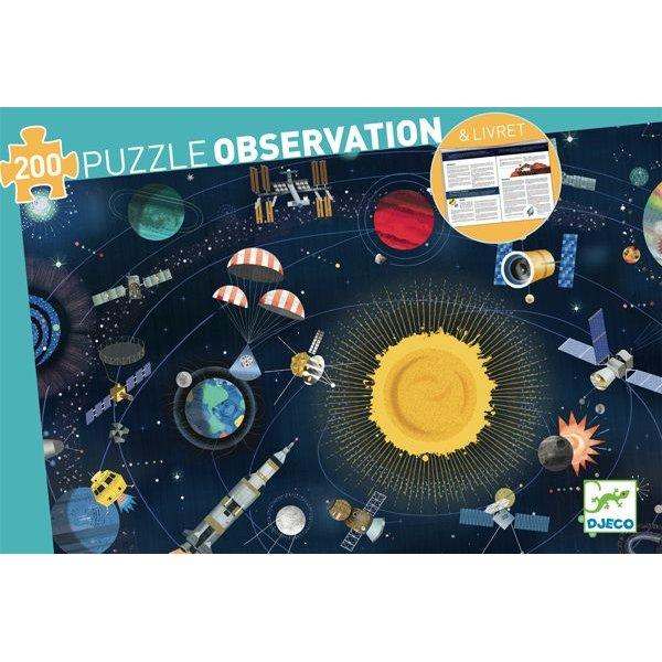 Puzzle d'observation sur le thème de l'espace