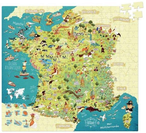 Réviser la géographie avec un puzzle de la France