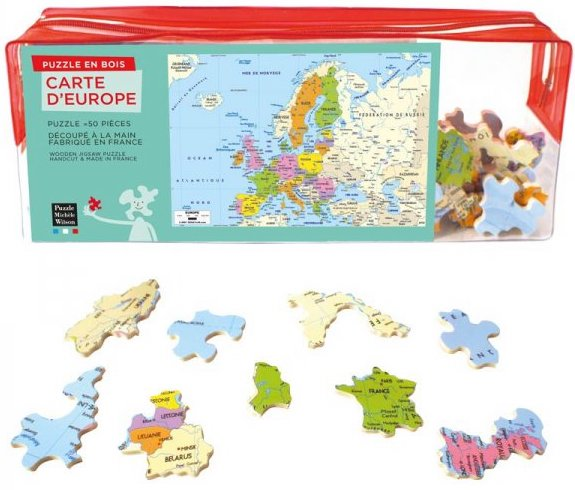 Puzzle en bois Carte d'Europe Made in France