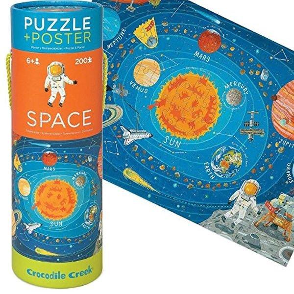 Puzzle et poster sur le thème de l'espace