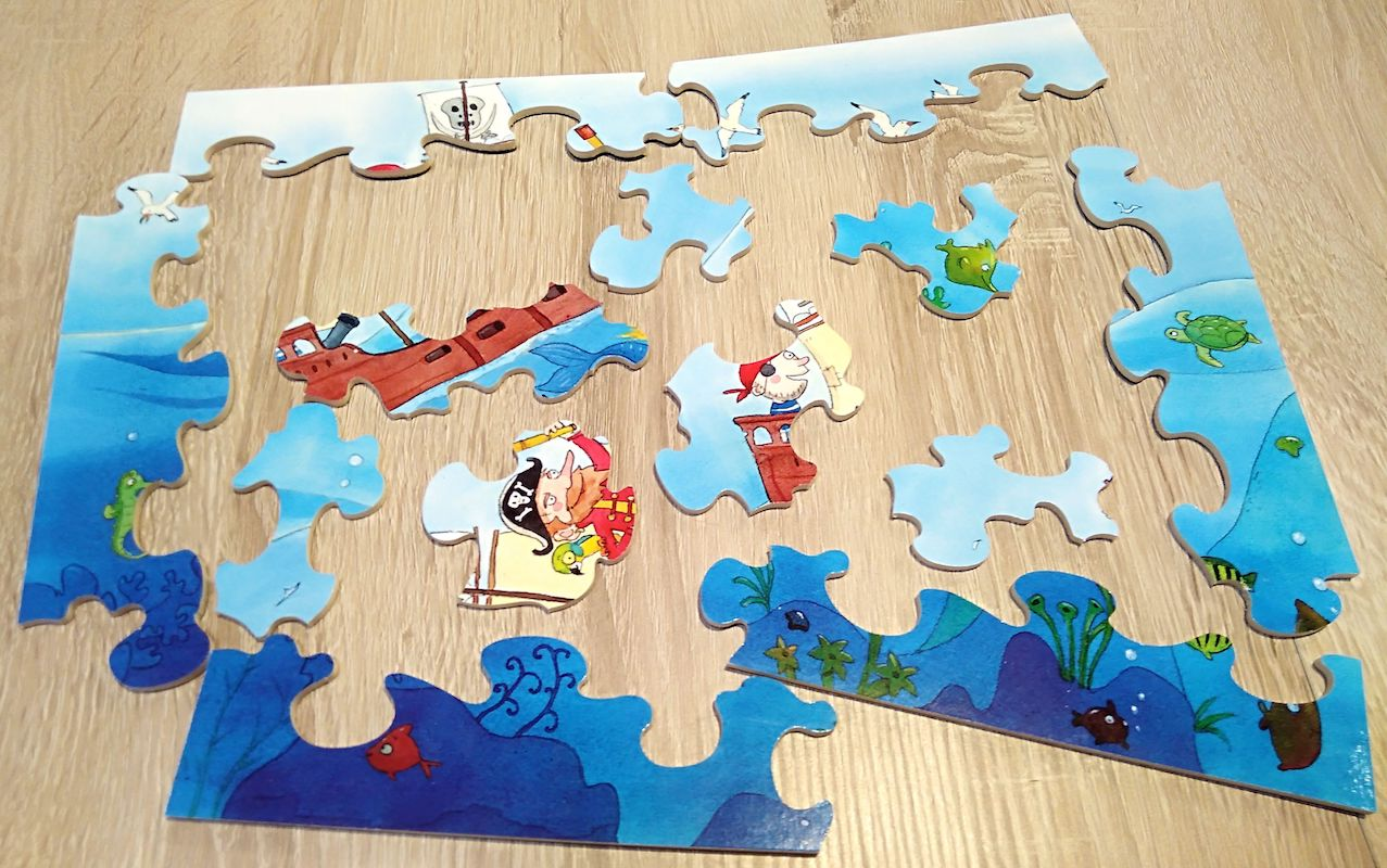 Puzzles avec des grands contours pour les enfants