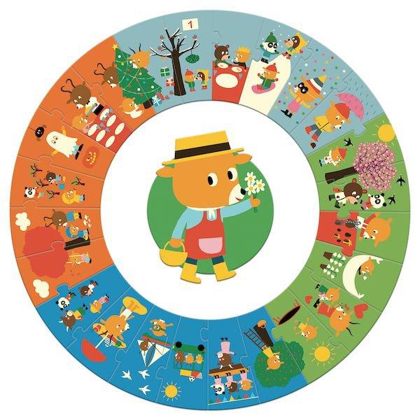 Puzzle sur le thème des saisons pour les enfants