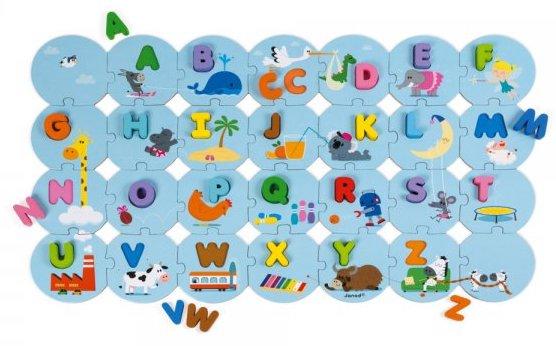 Puzzle pédagogique pour apprendre l'alphabet