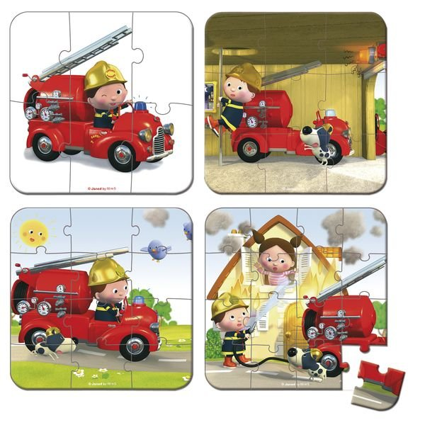 Boite avec plusieurs puzzles pour les enfants