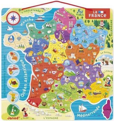 Puzzle magnétique Carte de France de Janod