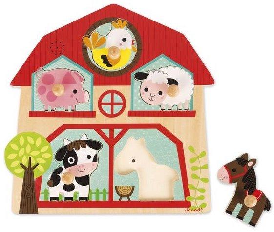 Puzzle sonote avec les animaux de la ferme