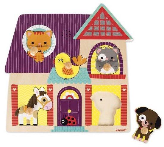 Puzzle sonore en bois avec les animaux