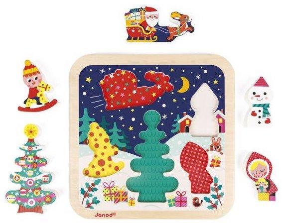 Puzzle en bois sur le thème de Noël