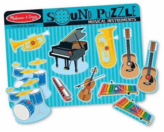 Puzzle musicaux avec des instruments