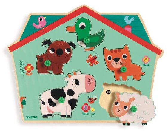 Puzzle sonore avec les animaux de la ferme