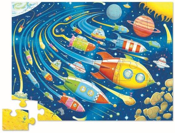 Puzzle sur le thème de l'espace pour les enfants