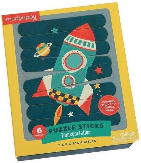 Puzzle sticks sur le thème de l'espace avec une fusée
