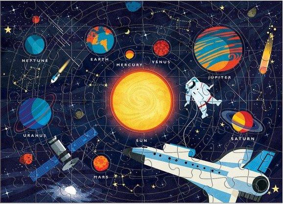 Puzzle sur le thème du système solaire