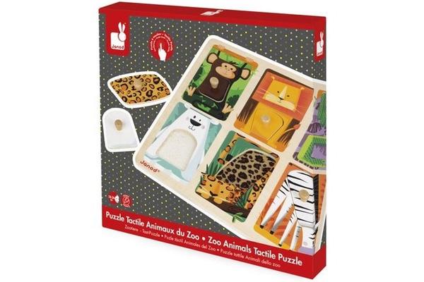 puzzle tactile les animaux du zoo