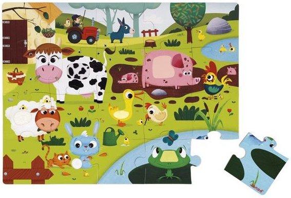 Puzzle tactile Les animaux de le ferme de Janod