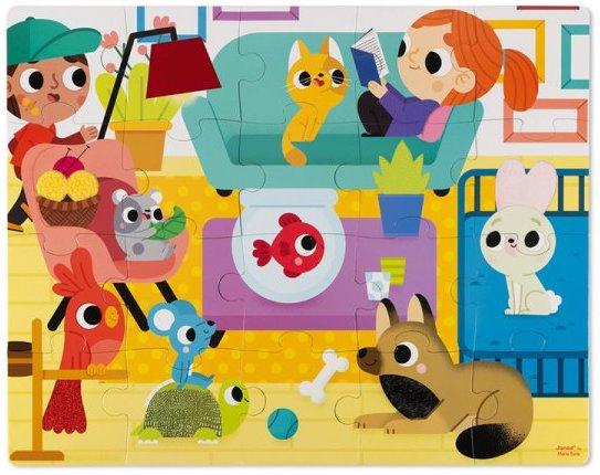 Puzzle tactile les animaux domestiques de Janod