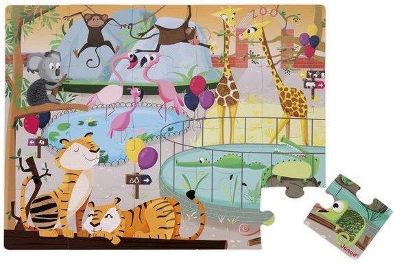 Puzzle tactile Une journée au Zoo de Janod