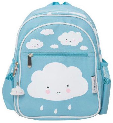 Sac à dos maternelle bleu avec des nuages