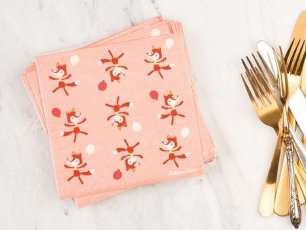 serviettes de table alice lilliputiens