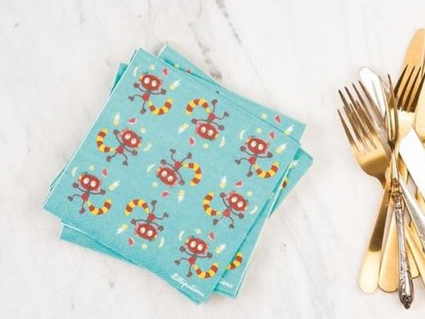 serviettes de table georges lilliputiens