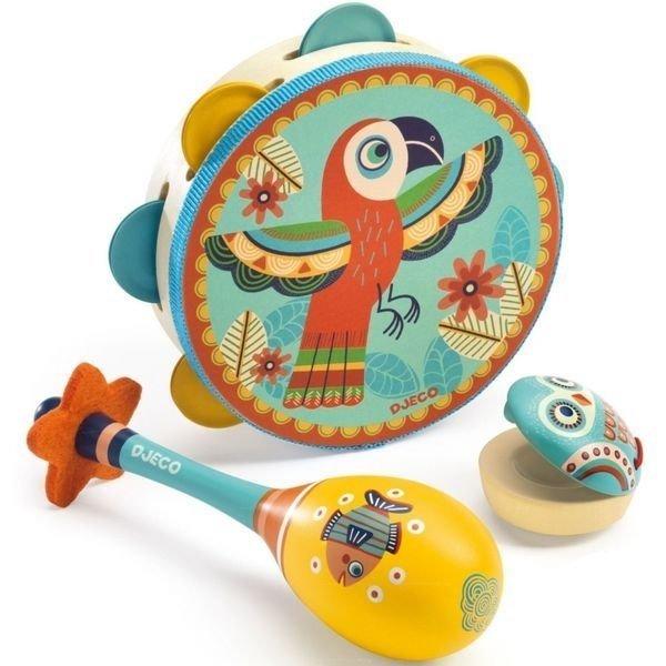 Tambourin, maracas et castagnette pour enfant