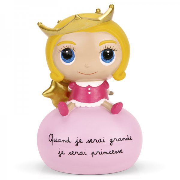 Tirelire Quand je serai grande je serai princesse