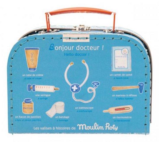 Valise de docteur en bois pour enfant