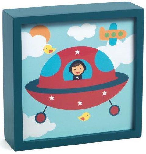 Veilleuse sur le thème de l'espace pour chambre enfant